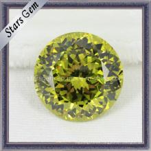 Diamantes simulados amarillo cúbicos de circonio piedras preciosas