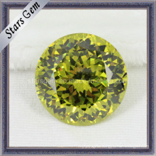 Simulated Diamonds Yellow Cubic Zirconia Gemstone