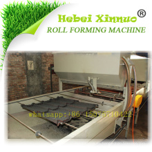 1% de descuento venta caliente hebei xinnuo piedra coatedcolored lámina de tejado de acero que forma la máquina