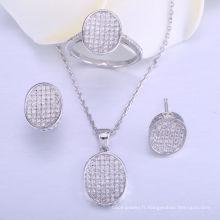 ensembles de bijoux de mariage pour les mariées ensemble de bijoux en argent sterling 925 collier et bague