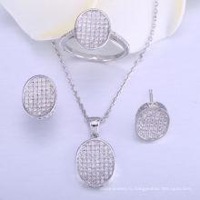 свадебные комплекты ювелирных изделий для невесты ювелирные изделия комплект 925 серебро ожерелье и кольцо