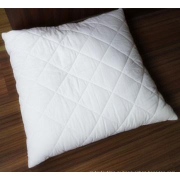 Стеганая подушка и наволочка из хлопковой ткани