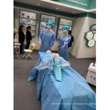 Drape chirurgical stérile jetable pour arthroscopie du genou