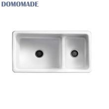 Elegante luxo mate branco branco brilhante top-mount pia da cozinha