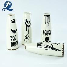 Home Goods Vase décoratif en céramique blanc personnalisé en vente