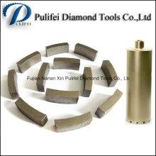 Segment de outils de diamant de foret de noyau de perçage de maçonnerie pour renforcer le béton