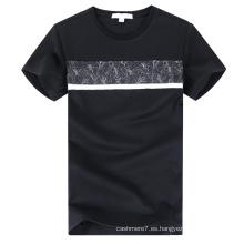 Camiseta al aire libre del cuello redondo de los hombres al por mayor de los hombres
