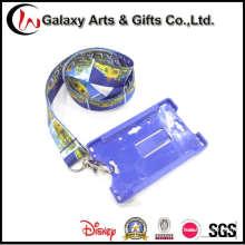Colhedor de pescoço de sublimação de corante com suporte de plástico cartão de ID