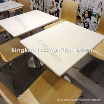 KKR royal solild surface table à café fantaisie