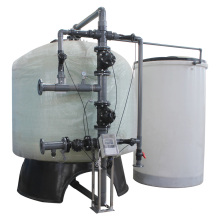 Adoucisseur de résine échangeuse d'ions à grand débit pour l'eau de chaudière