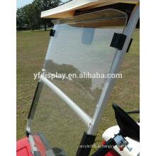 Pare-brise de chariot de golf clair avec pliage acrylique 2008 - vers le haut