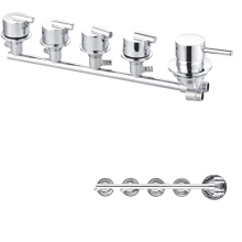 Bathroom  Multifunction temperature control valve brass mixer tap wall mount bath shower faucets