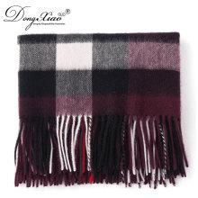 Precio competitivo colorido personalizado mujeres bufanda de lana a cuadros largo