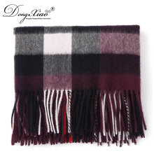 Competitive Price Colorful Customized Women Long Checked Wool Scarf