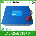 Bateria de 24V 60ah LiFePO4, bloco de bateria solar favorável ao meio ambiente do armazenamento