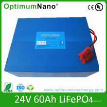 Ciclo profundo de los paquetes de baterías LiFePO4 24V 60ah