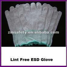 Guante de Nylon de punto de nylon sin costuras conductivo sin pelusa