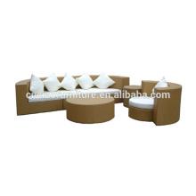 Efeito de rattan sofá mobiliário ao ar livre
