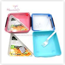 Пластиковые бенту Коробка обеда коробки хранения еды (1000 мл)