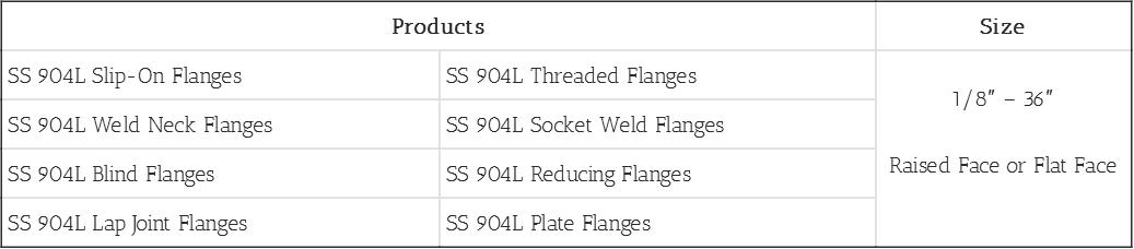 Steel Flange 904L