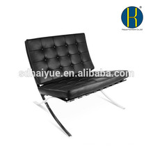Creative design barcelona chair comfortable living room chair with stainless steel frame