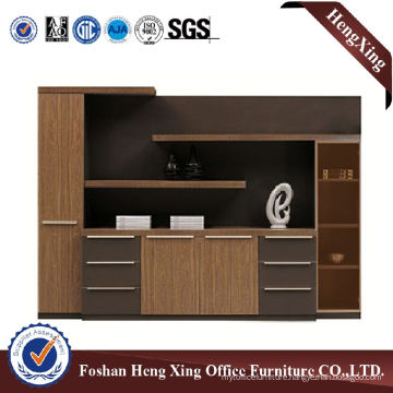 Wooden Glass Doors Office Bookcase Modern Melamine Office Furniture (HX-6M286)