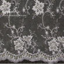 Beading Embroidery French Lace Vestido de noiva Tecido Stretch Tecido de renda No.CA023B