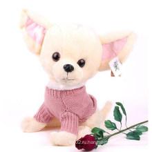 Пользовательские плюшевые игрушки для собак с большими ушами отважно трусливая игрушка плюшевых собак в высоком качестве