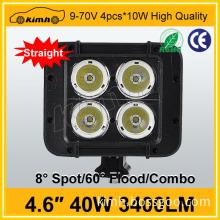 Hot sale 12v mini led light bar aluminum housing IP67 4.6'' 40W auto car led bar light