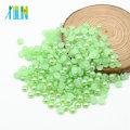 Perles rondes de perle de la qualité YIWU de la couleur Z16-Peridot excellente pour des métiers coupés dans la moitié