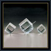 Cut Corner Crystal Cube Blank for Laser Engraving