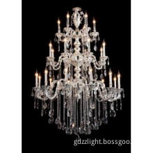 Long Lifespan K9 Crystal Chandelier Crystal Pendant Light Indoor Lamp