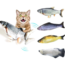 Electric Fish Toy Cat Fish Toy USB Charger Electric Floppy Realistic Pet Cats Chew Bite Scratch Teaser Teether Cat Toys
