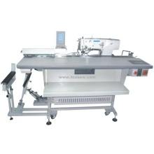 Automatische Fütterung Elektronische Gerade ButtonHole Maschine