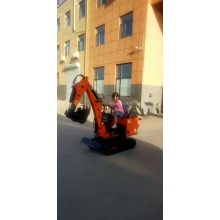 Hydraulic hammer mini excavator rotating grapple
