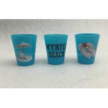 Blaues Farbschnapsglas, Neonfarbschnapsglas