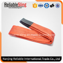 100% Polyester Heavy Duty Duplex Color Code Securing Lifting Sling with Flat Eye