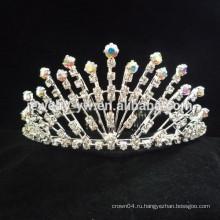 Дешевые оптовые аксессуары для волос хрустальный цветок короны оголовье