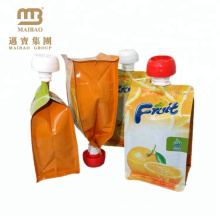 Wholesale Custom Design Reusable Food Grade Leakage Proof Biodegradable Stand Up Pouch With Spout For Drink Liquid