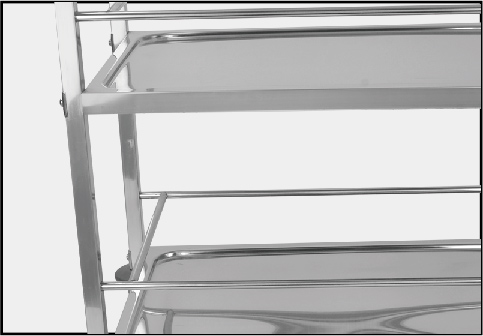 Stainless Steel Drinking Trolley