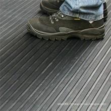 Feuille de caoutchouc d'isolation nervurée mince ou large grise