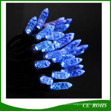 Lumière solaire de chaîne solaire de forme de fraise de lumière bleue de 50 Icicle LED
