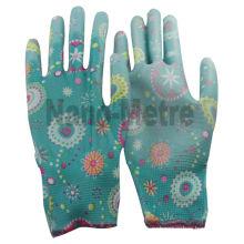 NMSAFETY 13 г полиэстер рабочие безопасности перчатки PU промышленного садоводства перчатки