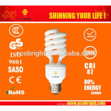 HOT! 12MM 45W 5500K SPIRAL SAVING LAMP CFL FOR STUDIO 10000H CE QULITY