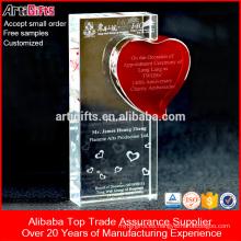 Artigifts Copa de trofeos de cristal promocional personalizado