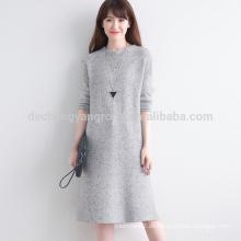 hoher Qualität plain woolen dicken langen Pullover Mantel für Frauen