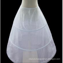 Enagua blanca 3 aros claro enagua nupcial para el vestido de boda hermosa