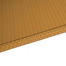 O fabricante da folha de Multiwall da folha do favo de mel do policarbonato para a claraboia Roofling cobre 10 anos de garantia a folha acrílica do PVC