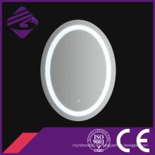 Jnh211 Saso oval decorativo iluminado espejo de pared con pantalla táctil