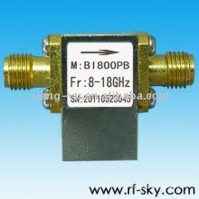 BI800PB_8-18G alta qualidade 8-18 GHz RF Broadband Isolador SMA / N conector